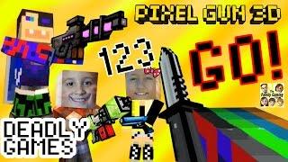 Let's Play Pixel Gun 3D: DEADLY GAMES & Science Lab + Duddy got a new Skin! (Dad & Kids) thumbnail