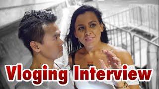 Interview ke Cewek Seksi sambil Vloging dapat Cium