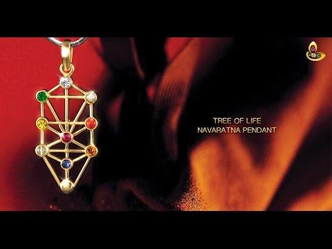 Kabbalah Tree of Life Navaratna Gemstone Pendant for infinite truth