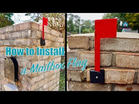 How to Attach a Mailbox Flag to Brick