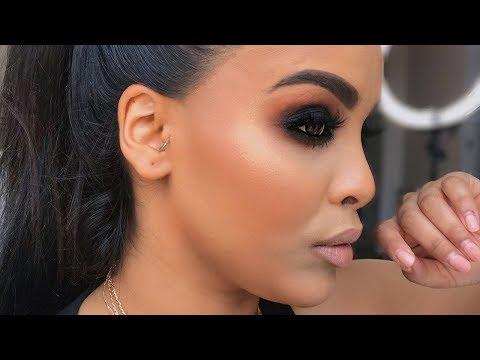 BLACK SMOKEY EYE MAKEUP TUTORIAL💨  NikkisSecretx