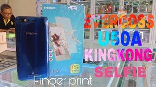 HP EVERCOSS U50A SELFIE Finger print BLUE MINI SERIES (warna biru keluaran 2018)