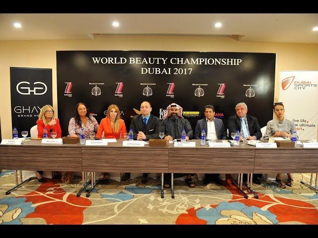 Press Conference - WORLD BEAUTY CHAMPIONSHIP of Hairstyling Art & Make Up 2017 - Dubai
