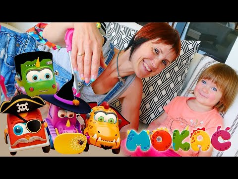Мультики про машинки Мокас и Хэллоуин - Маша Капуки и Бьянка - Видео для детей