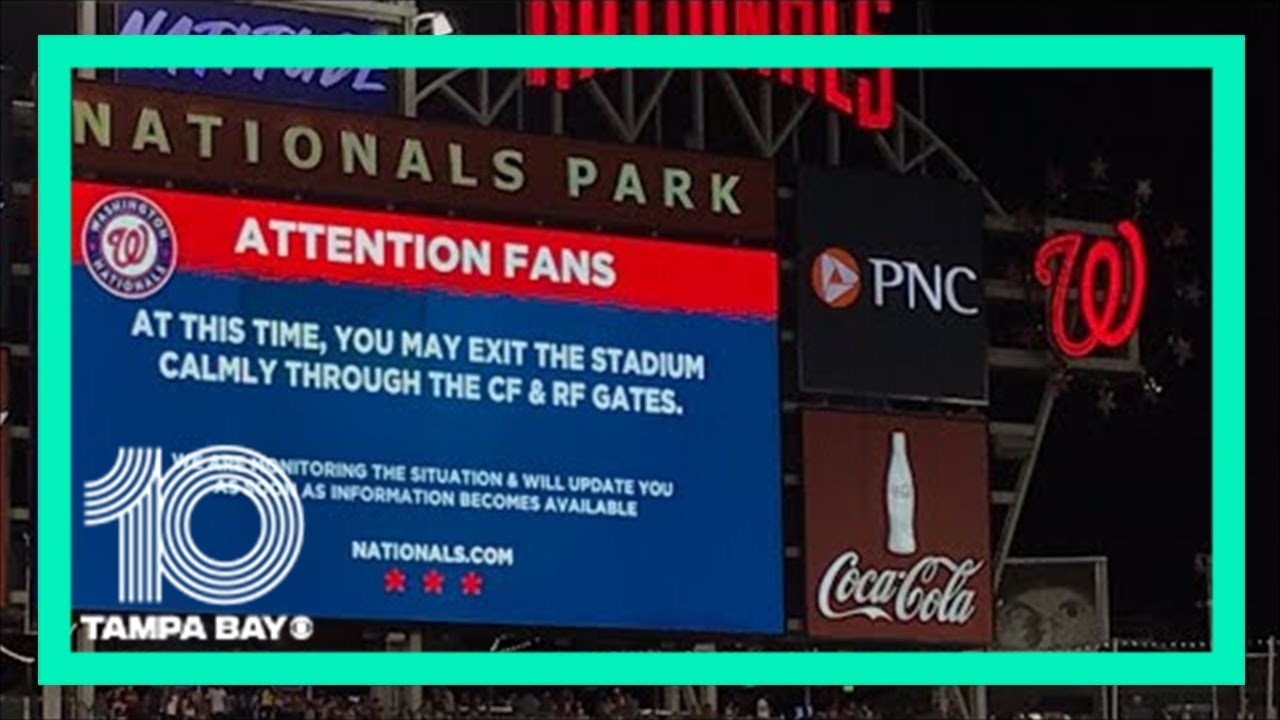 Washington Nationals' game suspended as police say three injured ...
