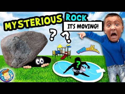 MYSTERIOUS ROCK in BACKYARD!?!?  (FUNnel Vision Vlog Goes Wrong!)   😉