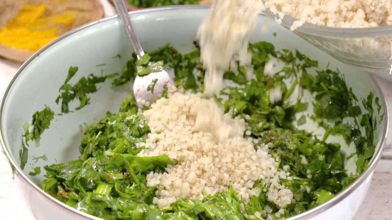 מתכוני סוגת: לביבות ירק וקינואה בסגנון פרסי