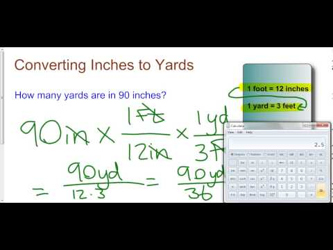 Converting Inches To Yards