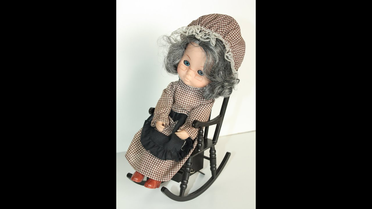 grandma rocking chair best nursing wind up grandmother granny doll on musical