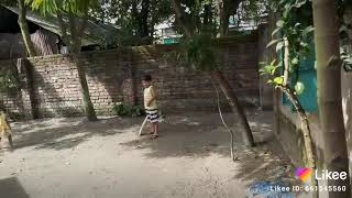 Safwan is playing cricket.