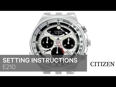 fb96b50c7a0 OFFICIAL CITIZEN E210 Setting Instruction - YouTube