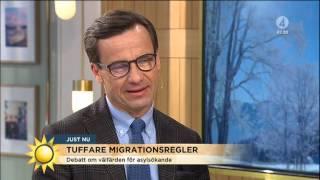 Moderaterna vill begränsa välfärden för asylsökande - Nyhetsmorgon (TV4)
