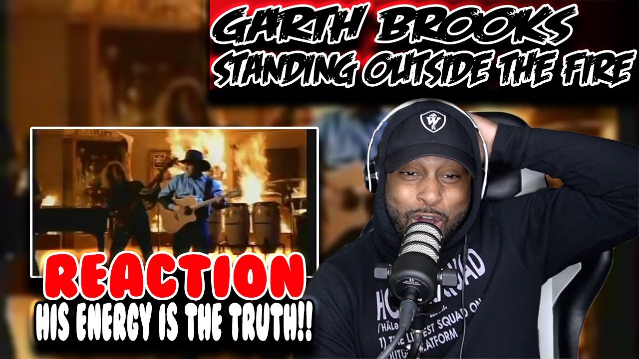 First Time hearing Garth Brooks ( Standing Outside The Fire ) |  Reaction