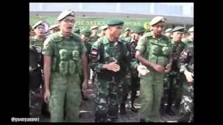 Keren!!! Adu Yel-yel Tentara Indonesia dan Singapura