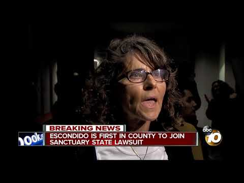Escondido is first in County to join sanctuary state lawsuit