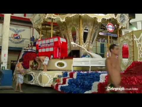 Rio de Janeiro carnival: final touches made to London inspired float