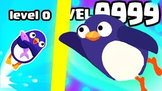 IS THIS STRONGEST HIGHEST LEVEL PENGUIN EVOLUTION? (9999+ UPGRADE FASTEST) l Bouncemasters New game
