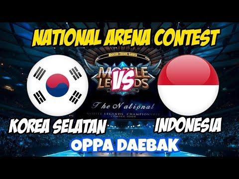 LIVE ARENA KONTES !! OPPA DAEBAK - INDONESIA VS KOREA SELATAN   Mobile Legends  20 Februari 2018