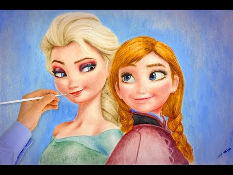 Frozen Elsa Anna AMAZING (How To Draw) Walt Disney Pictures