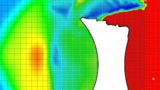 SolidWorks Flow Simulation - Concave Reentry Capsule Iterative Solver Going Through Crazy Shockpeak