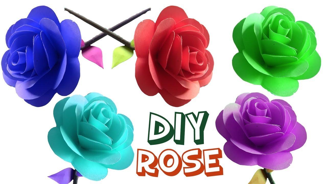 Diy Easy 3d Paper Rose Tutorial For Kids Origami Flower