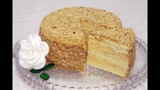 Торт «Наполеон» песочный с заварным кремом. Домашний ресторан®