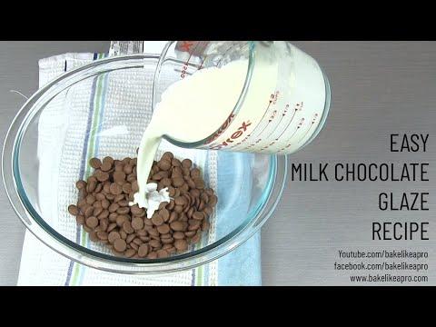 Easy Milk Chocolate Glaze Recipe