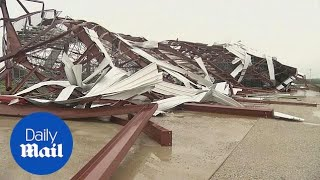 Severe weather heavily damages Lucas Oil Speedway thumbnail