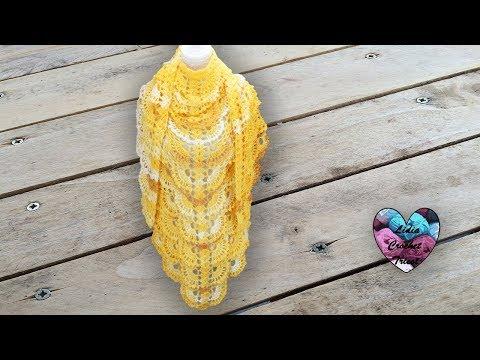 Châle pamplemousse crochet relief