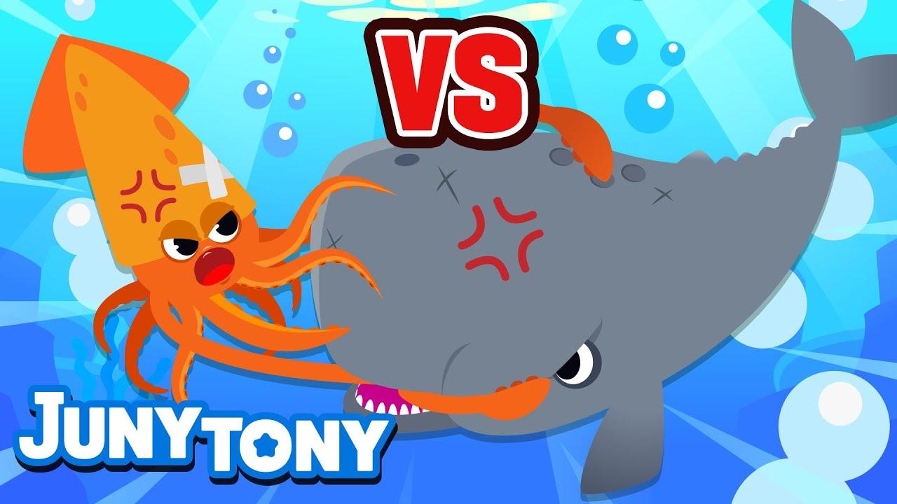 Cachalote vs Calamar Gigante | Canción de Serie VS | ¿Quién Va a Ganar? | Juny Tony en español
