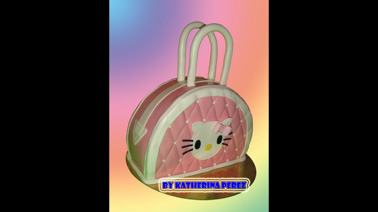 Torta Hello Kitty Cartera Hello Kitty Handbag Cake Youtube