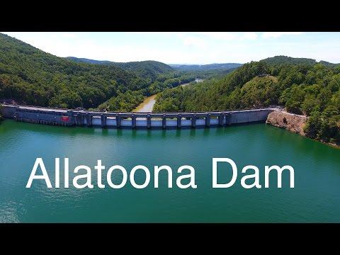 DJI Phantom 4 4K UHD raw footage - Allatoona Dam (Drone Video)