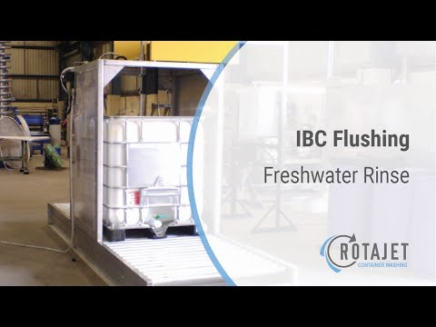 IBC washing and cleaning station