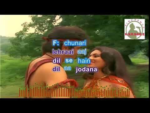 TERE SANG PYAR MAIN  hindi karaoke for Male singers with lyrics