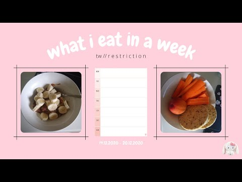 what i eat in a week // tw ed // restricting, binging, fasting