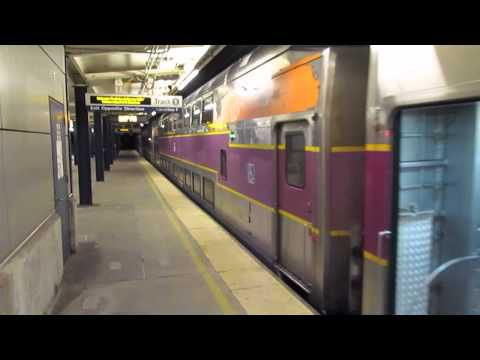 Trains at Route.128 Westwood MA (10/4/14)