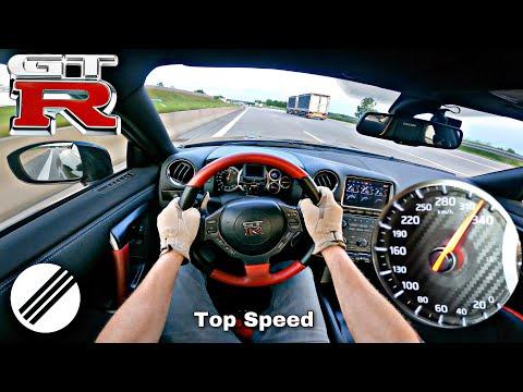 Download NISSAN GT-R R35 *333kmh* TOP SPEED DRIVE ON GERMAN AUTOBAHN 🏎