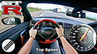NISSAN GT-R R35 *333kmh* TOP SPEED DRIVE ON GERMAN AUTOBAHN 🏎