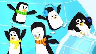 Five Little Penguins   Nursery Rhymes Songs For Kids   Baby Songs By Bud Bud Buddies