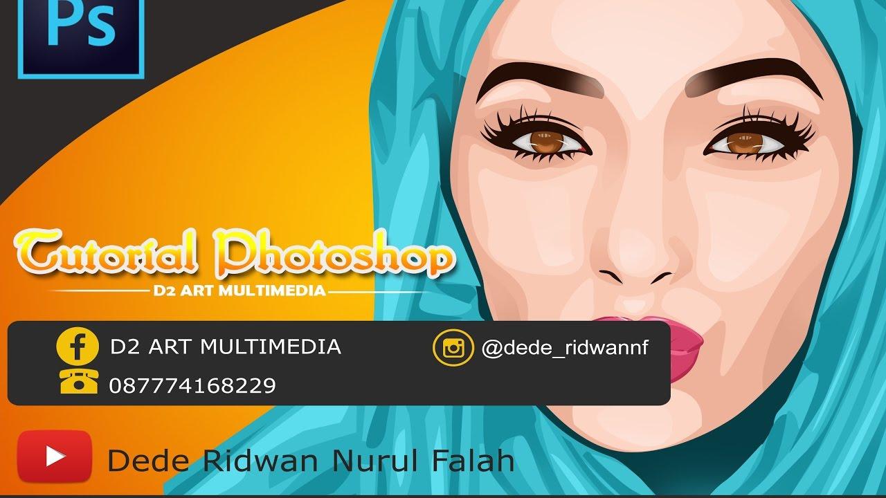Tutorial membuat vektor kartun photoshop part 2 coloring and shading - Tutorial Vektor Vexel Hijab Photoshop D2 Art Multimedia