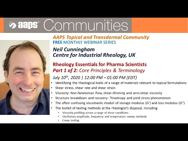 Rheology Essentials for Pharmaceutical Scientists Part 1