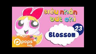 Hướng Dẫn Vẽ Blossom  - Siêu Nhân Bút Chì - Tập 23 - How to draw Blossom (from The Powerpuff Girls)