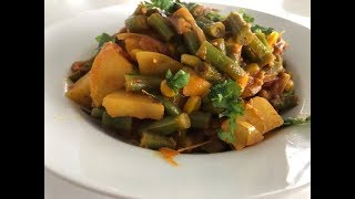 Everyday Indian food - Aloo Beans Curry Recipe | Easy Green Beans Potatoes Dinner Recipe