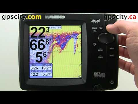 The View Setup Menu In A Humminbird 597ciHD GPS With GPS City