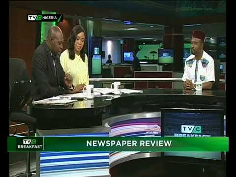 TVC Breakfast 17th May 2018 |  Newspaper Review with Dan Ekere