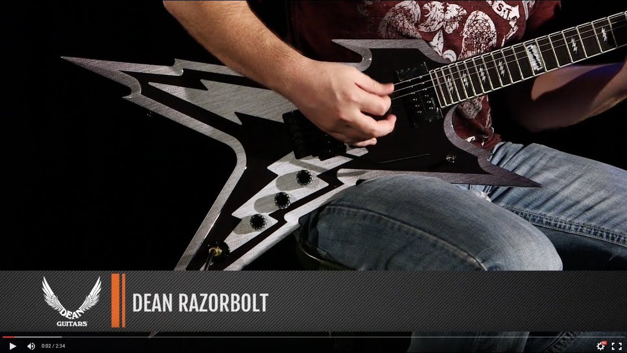 dean guitars razorbolt youtube