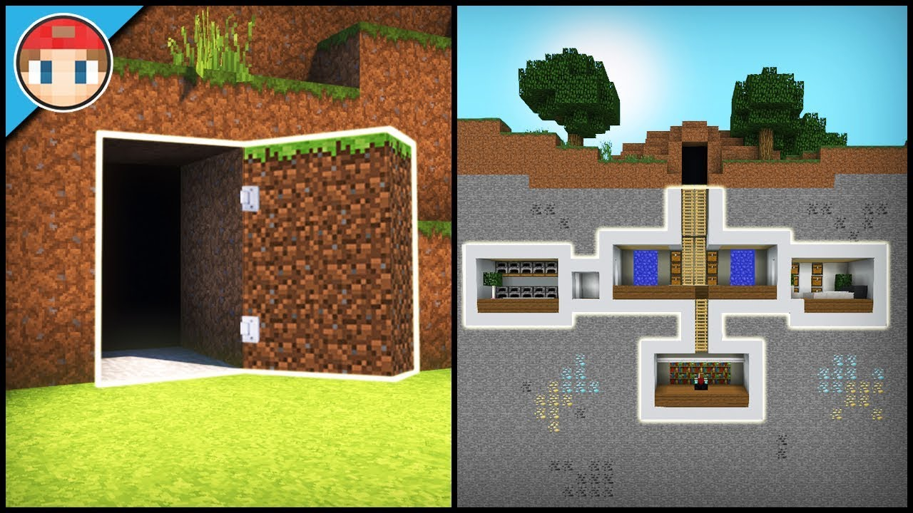 Minecraft how to build a secret base tutorial 2 easy - Things to know when building a house ...