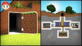 Minecraft: How to Build a Secret Base Tutorial (#2) - Easy Hidden House