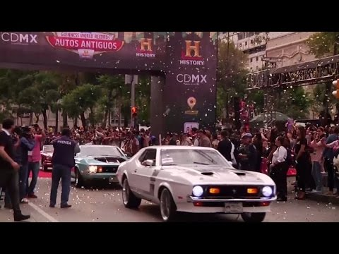 Watch: Mexico City breaks classic car record