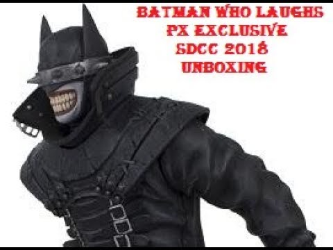 Unboxing BATMAN WHO LAUGHS icon heroes PX exclusive SDCC 2018